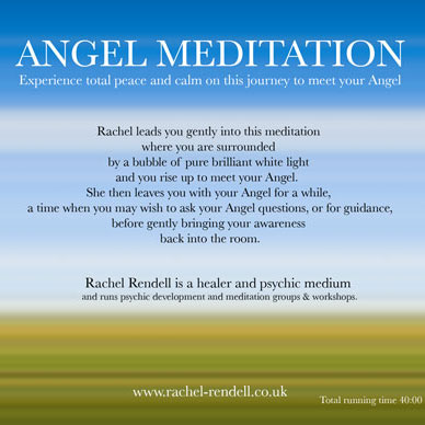 Angel meditation CD back cover