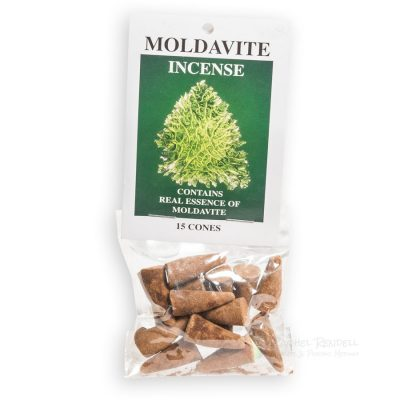 Moldavite incense cones.