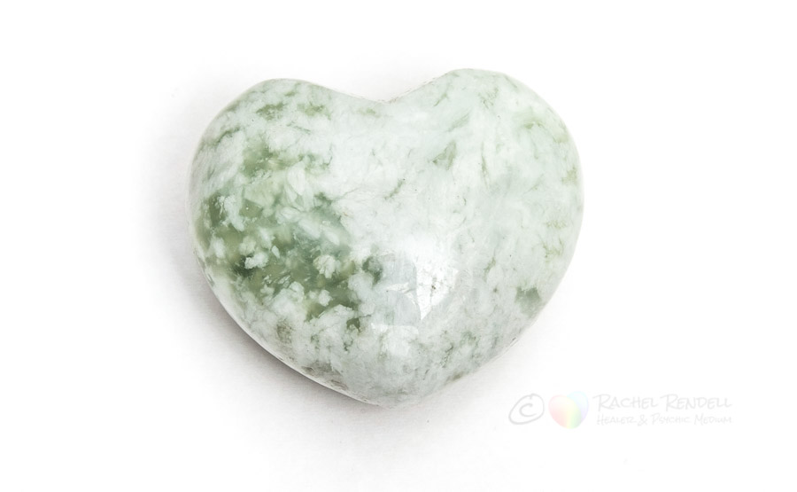 Serpentine New Jade Heart.
