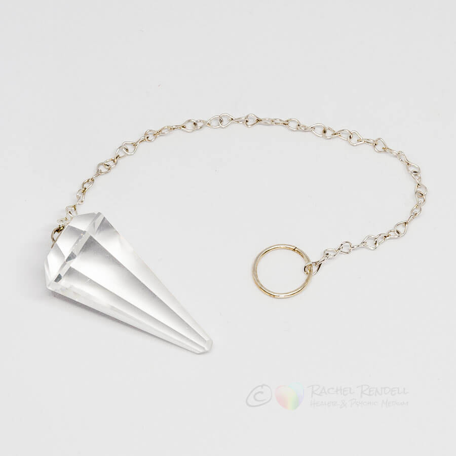 Clear Quartz pendulum & chain