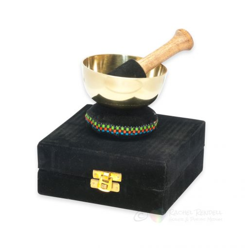 Brass singing bowl gift set with presentation box