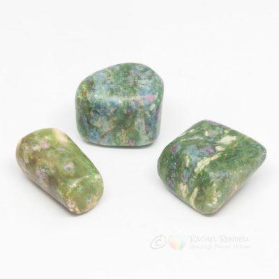 Ruby in Fuchsite tumblestone.