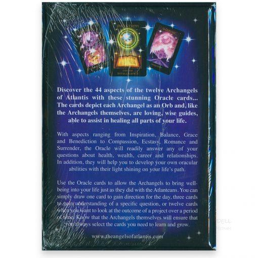 Angels Of Atlantis Oracle Cards - Steart Pearce - back
