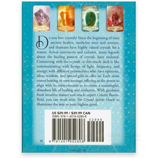 The Crystal Spirits Oracle cards - back